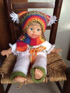 een poppenkind aangekleed
