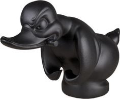 Flat-Black-Death-Proof-Duck-Convoy-Duck-Hood-Ornament-Car-Mascot-Rat-Rot-Hot-Rod