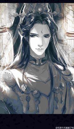 【金光】手绘插画 叽哥/绘 Chinese Culture, Chinese Art, Long Hair Quotes, Thunderbolt Fantasy, Bishounen, Ink Illustrations, Boy Art, Manga, Asian Art