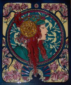 stained glass art... art nouveau era Art Nouveau 04 by mohamed-ufo.deviantart.com on @DeviantArt