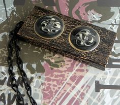 Large Recycled Wooden Domino Necklace and Art Deco Earrings. This is an art piece you can wear or hang as a decoration! ScatterCreations, $17.99