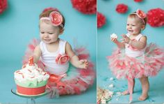 Coral Mint Tutu Dress Set by StrawberrieRose on Etsy, $68.95