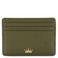Olive Polished Leather Mini Wallet at Elaine Turner in Market Street - The Woodlands