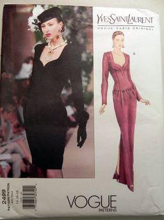e19a6e567ce Vogue 2499 Yves Saint Laurent dress sewing by retroactivefuture, $15.00 Saint  Laurent Dress, Yves