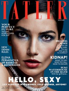 Tatler UK January 2017 Lily Aldridge by David Roemer Photography: David Roemer @Atelier Management Styled by: Sophie Pera Hair: Keith Carpenter Makeup: Eric Polito Model: Lily Aldridge