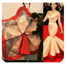 Forros y varillas This looks like it was inspired from Charles James clover dress - Salvabranizac posen showing the understructure, dress heavily ïnfluenced by charles jamesImage gallery – Page 266767977913266884 – Artofit Fashion Sewing, Diy Fashion, Ideias Fashion, Fashion Dresses, Dress Sewing Patterns, Clothing Patterns, Sewing Clothes, Diy Clothes, Couture Sewing Techniques