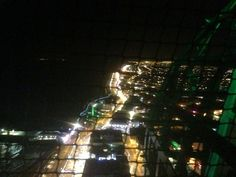 A View from the top of the Tower in Blackpool Lancashire England at Night