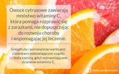 W okresie jesienno-zimowym witamina C jest nam bardzo potrzebna, żeby zwiększyć odporność. Uważajcie jednak, żeby nie przesadzić z cytrusami - choć są pełne witaminy C, to jednocześnie mają właściwości wychładzające organizm. Jedzmy, ale z umiarem!   #odżywianie #zdrowie #owoce #witaminaC #jesień #zima #odporność
