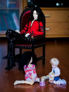 Untitled by Justice-Rainger on DeviantArt Michael Jackson Figure, Michael Jackson Outfits, Michael Jackson Merchandise, Star Wars Furniture, Like Mike, Black Barbie, Fashion Royalty Dolls, African Culture, Dance Art