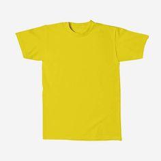 Basic Tees, Shirt Dress, T Shirt, Yellow, Campaign, Mens Tops, Medium, Fashion, Moda