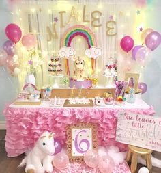 Whimsical Unicorn Birthday Party TheIcedSugarCookie.com