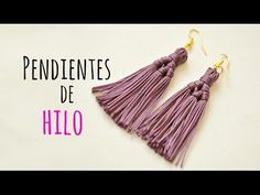 In this tutorial I'm so happy to show you how to make this beautiful and fashionable Tassel earrings. They are super easy to make and It takes just a couple . Macrame Earrings Tutorial, Diy Tassel Earrings, Tassel Earing, Earring Tutorial, Macrame Jewelry, Beaded Earrings, Crochet Earrings, Handmade Accessories, Handmade Jewelry