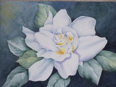 My painting. Watercolor gardenia.