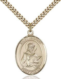 """St. Isidore Of Seville Gold Filled 1"""""""