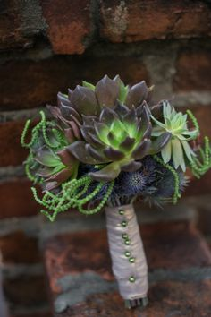 This might be my favorite for fall!!! Sassy succulent bouquet