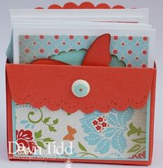 envelope with notecards