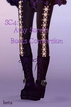 Soulcalibur 4 conversion of Amy Sorel's boots by Raine - Sims 3 Downloads CC Caboodle