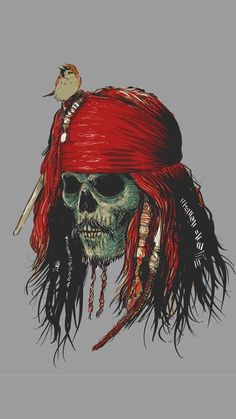 Pirates of the Caribbean Dead Jack Sparrow Pirate Art, Pirate Skull, Pirate Life, Pirate Skeleton, Captain Jack Sparrow, Jack Sparrow Tattoos, Davy Jones, Skull And Bones, Pirates Of The Caribbean