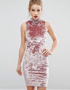 New Look Crushed Velvet Bodycon Dress