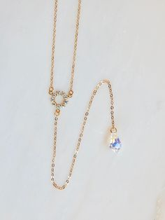 Crystal Y necklace by @loveyourbling