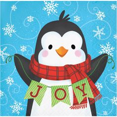 Snowman and Penguin Beverage Napkins 192 ct Christmas Rock, Christmas Canvas, Christmas Paintings, Christmas Crafts For Kids, Christmas Printables, Christmas Snowman, Holiday Crafts, Christmas Gifts, Christmas Decorations