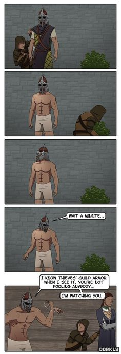 To Catch a Skyrim Thief. but really, you rarely can steal clothes, even off of dead people. soooo...
