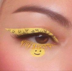 Indie Makeup, Edgy Makeup, Makeup Eye Looks, Eye Makeup Art, Crazy Makeup, Pretty Makeup, Skin Makeup, Makeup Inspo, Eyeshadow Makeup