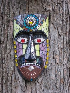 Mosaic garden art for our trees....