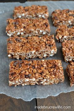 No Bake Nutella S'mores Granola Bars - easy no bake granola bars that are perfect for breakfast or as after school snacks(Easy Baking Nutella) Yummy Treats, Delicious Desserts, Sweet Treats, Yummy Food, Nutella Brownies, Nutella Recipes, Snack Recipes, Dessert Recipes, No Bake Granola Bars