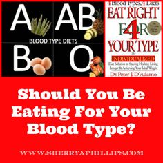 Should You Be Eating For Your Blood Type? Find out at http://sherryaphillips.com/eating-blood-type/ #Holistic #Health #Food #Diet #Weight