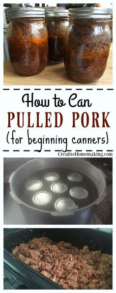 Canning pulled pork. How to make pulled pork to can and put in the pantry for a year or more. Canning pulled pork. How to make pulled pork to can and put in the pantry for a year or more. Pressure Canning Recipes, Home Canning Recipes, Canning Tips, Pressure Cooker Recipes, Cooking Recipes, Pressure Cooking, Canned Meat, Canned Food Storage, Food Storage Recipes