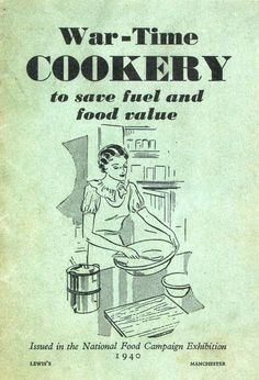 I love war-time cookery books and enjoy reading about the thrifty kitchen ways that were developed out of necessity, but are any of t. Retro Recipes, Old Recipes, Cookbook Recipes, Cooking Recipes, Recipies, Coffee Recipes, Vintage Cookbooks, Vintage Books, War Recipe