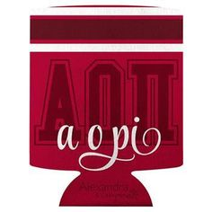 Alpha Omicron Pi koozie available in your Sorority colors shown. Rush service is available for of the total, this service can be selected during checkout. Sorority Bid Day, Sorority Outfits, Sorority And Fraternity, Sorority Shirts, Greek Gifts, Alpha Omicron Pi, Custom Greek Apparel, Inspirational Gifts, Calgary