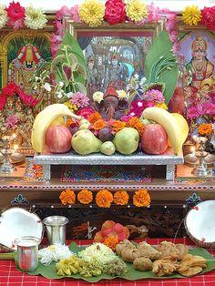 Kalash Decoration, Ganpati Decoration Design, Diwali Decorations, Festival Decorations, Flower Decorations, Ganesh Chaturthi Decoration, Happy Ganesh Chaturthi, Ganesh Pooja, Silver Pooja Items
