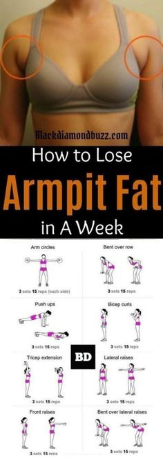 Fat Fast Shrinking Signal Diet-Recipes - Arm fat workout How to get rid of armpit fat and underarm fat bra in a week .These arm fat exercises will make you look sexy in your strapless dress and your friends will be jealous. Try it you do not have anyth # Body Fitness, Fitness Diet, Fitness Motivation, Health Fitness, Sport Motivation, Video Fitness, Fitness Sport, Exercise Motivation, Women's Health