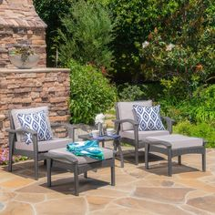 Puerta Outdoor 6 Piece Wicker V Shaped Sectional Sofa Set