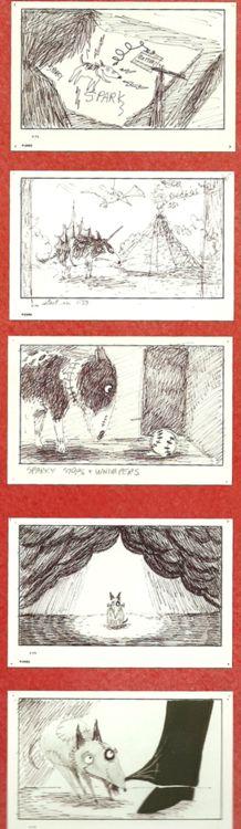 Frankenweenie Storyboard Art, 1982