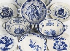 Danish Blue and White Dishes