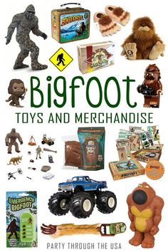 Keep your kids entertained for hours by having them hide and search for a Bigfoot toy. Bring it camping to take the fun straight to the Sasquatch's woods. Includes a book list of Bigfoot kids' stories. Bigfoot Birthday, Bigfoot Party, Bigfoot Toys, Bigfoot Sasquatch, Party Activities, Activities For Kids, Bigfoot Pictures, Finding Bigfoot, Baby Birthday
