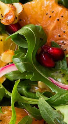 Arugula Orange Salad with Lemon Ginger Dressing