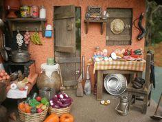 Miniature Rooms, Miniature Kitchen, Miniature Houses, Indoor Fairy Gardens, Fairy Garden Houses, Traditional Toys, Fairy Furniture, Home Board, Mini Kitchen