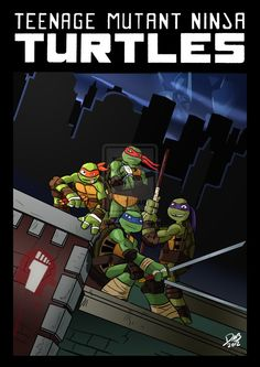 TMNT Classic Pose by ~MrPancakez86 on deviantART
