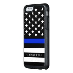 Police Styled American Flag Custom Name OtterBox iPhone 6/6s Case
