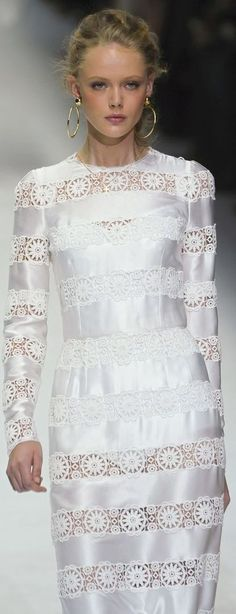 Dolce &Gabanna ~ Pretty Lace White Dress ❥