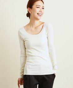 コットン フライス ロングスリーブ(Tシャツ/カットソー)|une autre(ユノートル)のファッション通販 - ZOZOTOWN