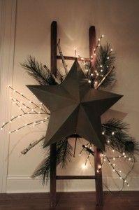 Christmas-star-on-christmas-ladder