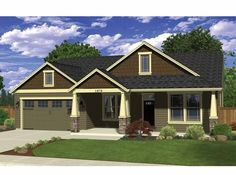 Ranch House Plan with 1874 Square Feet Bedrooms:	4 Baths:	2 Living Area:	1,874 sq.ft.	Width:	50' Foundation:	Crawlspace, Stem Wall Foundation	Depth:	55' Stories:	1 Garage Bays:	2  from Dream Home Source | House Plan Code DHSW69567