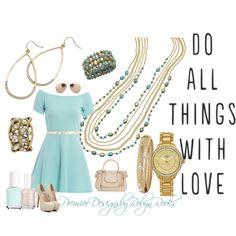 Premier Designs Belize Necklace and bracelet, Gold Crown watch, Avery earrings, Marigold bracelet and Laurel ring