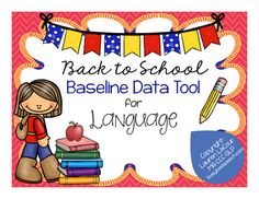 TpT: Baseline Data Tool for Language Skills--Vocabulary, WH, Grammar, Concepts. Pinned by SOS Inc. Resources. Follow all our boards at pinterest.com/sostherapy/ for therapy resources.