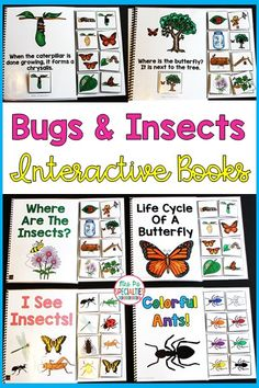 Bug and Insects Interactive Books (Adapted Books for Special Education) These adapted & interactive books are perfect for teaching students to attend to and engage with books! Target prepositions, WH questions, v Science Lessons, Teaching Science, Science Activities, Health Lessons, Spring Activities, Teaching Ideas, Insect Activities, Autism Activities, Reading Comprehension Skills